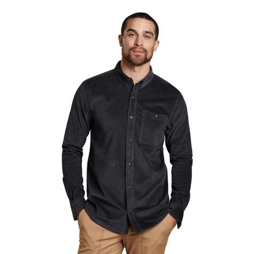 Toad&Co Men's Cruiser Cord Long Sleeve Shirt Soot_89