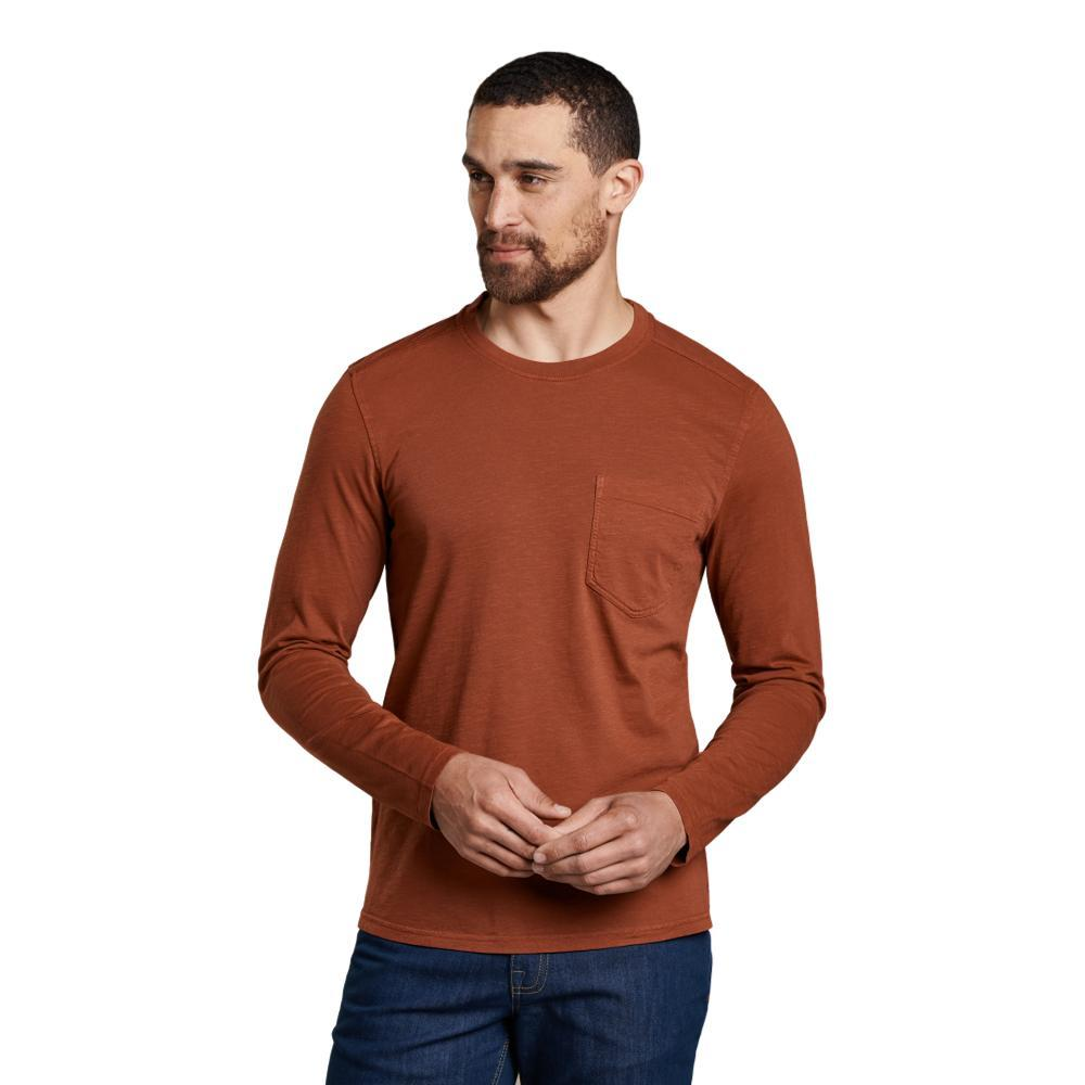 Toad&Co Men's Primo Long Sleeve Crew Shirt PAPRIKA_843