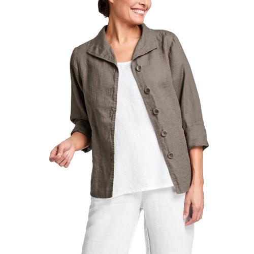 FLAX Women's Shapely Caper Jacket Mink