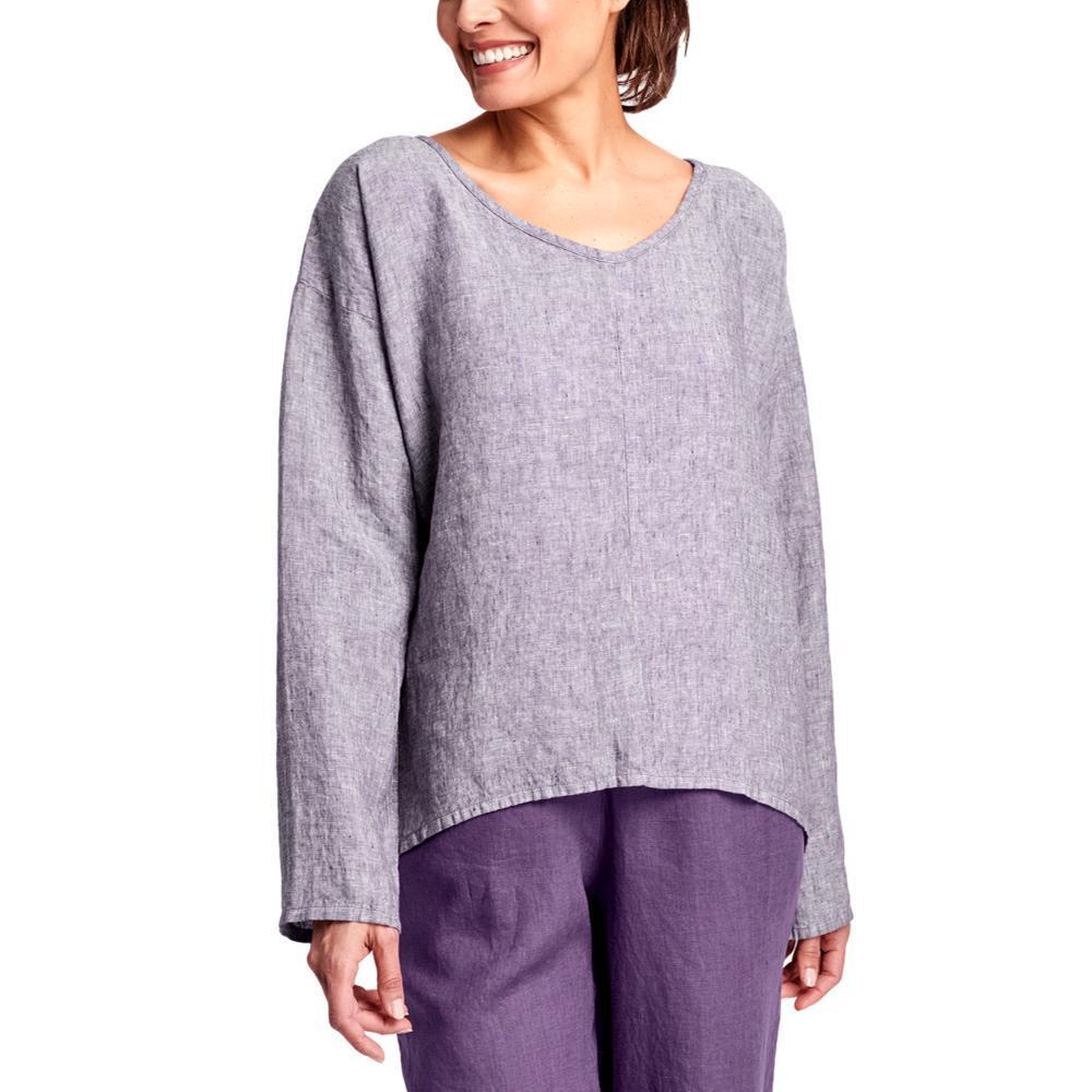 FLAX Women's Whisperer Shirt PLUMYARNDYE