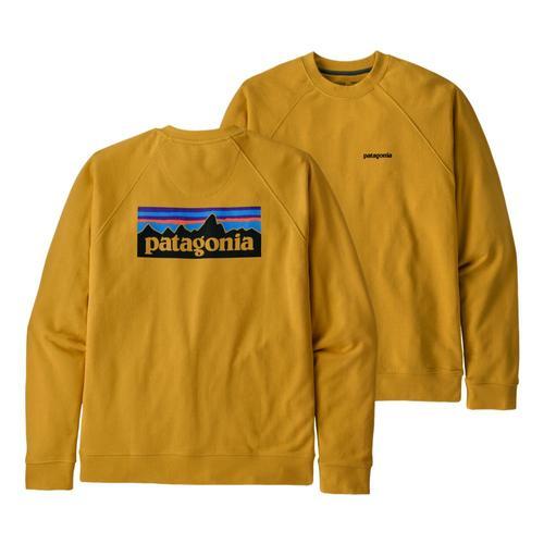 Patagonia Men's P-6 Logo Organic Crew Sweatshirt Yellow_mtny
