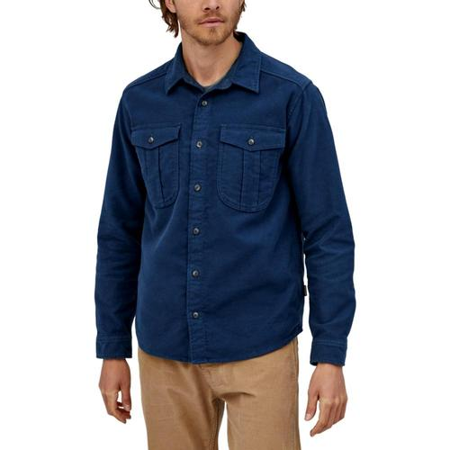 Patagonia Men's Long-Sleeved Topo Canyon Moleskin Shirt Blue_snbl