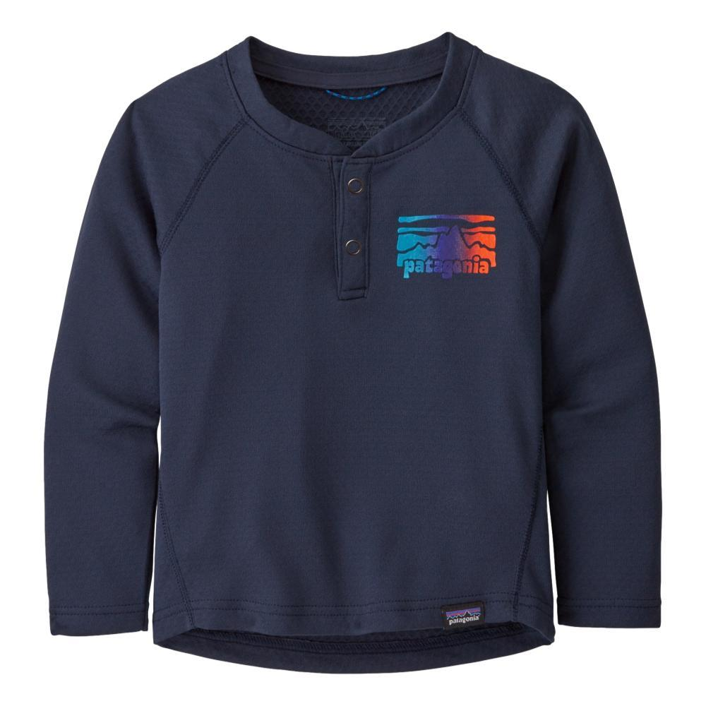 Patagonia Baby Capilene Midweight Henley NAVY_FNNA