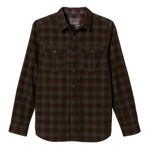 Royal Robbins Men's Covert Cord Organic Cotton Long Sleeve Shirt Loden_186