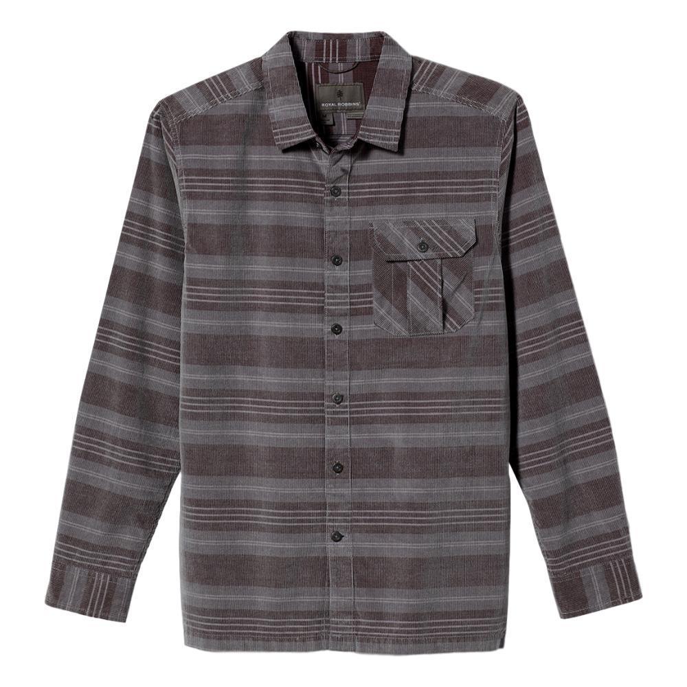 Royal Robbins Men's Covert Cord Organic Cotton Stripe Long Sleeve Shirt PEWTER_166