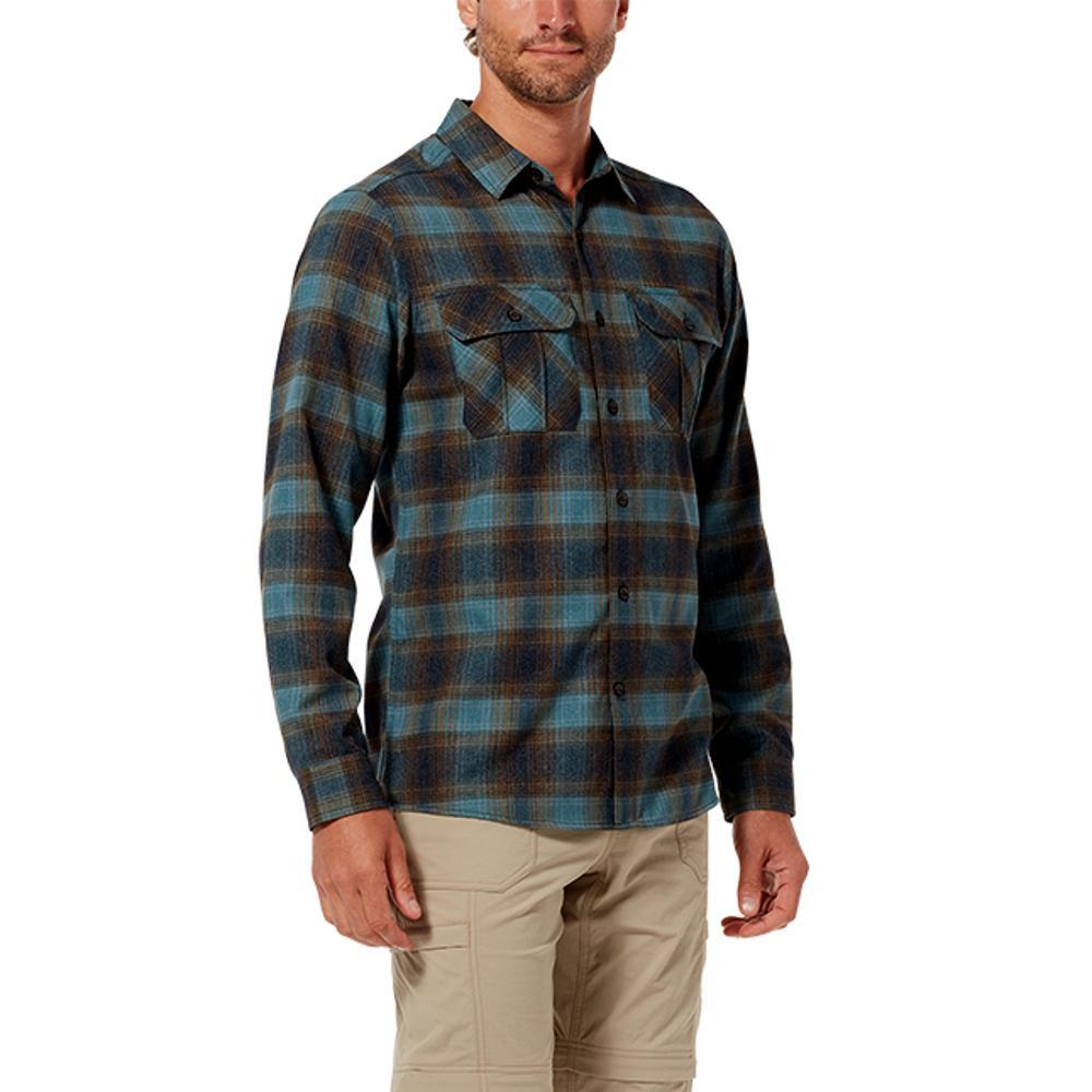 Royal Robbins Men's Lost Coast Flannel Plaid Long Sleeve Shirt PELICAN_165