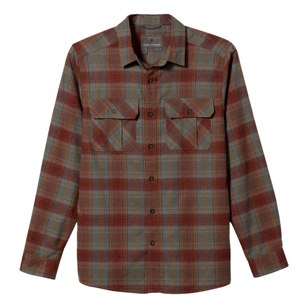 Royal Robbins Men's Lost Coast Flannel Plaid Long Sleeve Shirt REDROCK_468