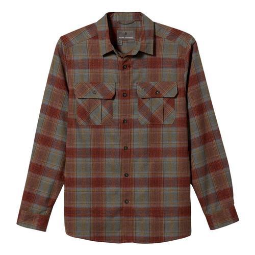 Royal Robbins Men's Lost Coast Flannel Plaid Long Sleeve Shirt Redrock_468