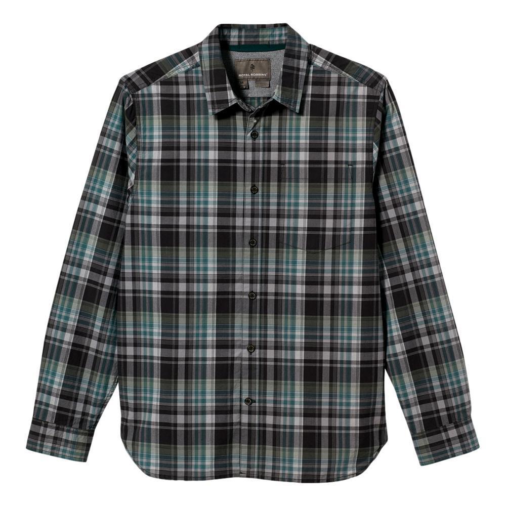 Royal Robbins Men's Trouvaille Organic Cotton Long Sleeve Shirt ASPHALT_568