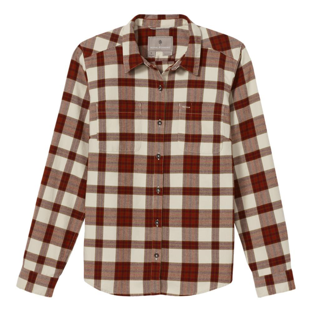 Royal Robbins Women's Lieback Organic Cotton Flannel Long Sleeve Shirt SYRAHM_249