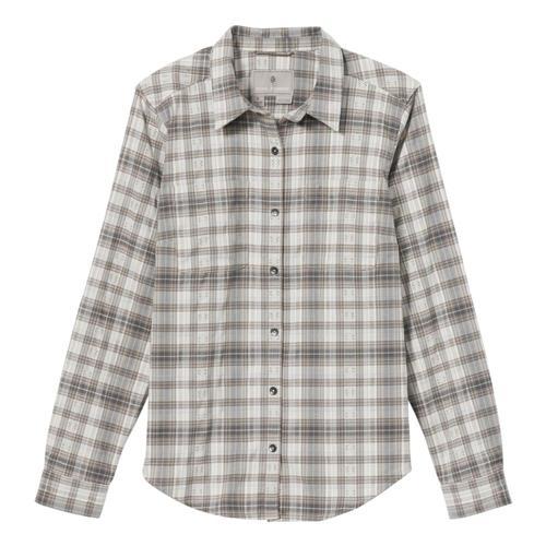 Royal Robbins Women's Thermotech Flannel Shirt Silver_108