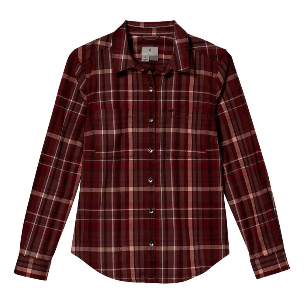 Royal Robbins Women's Thermotech Flannel Shirt SYRAH_436