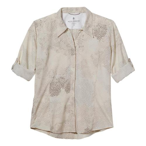 Royal Robbins Women's Expedition Print 3/4 Sleeve Shirt Creme_657