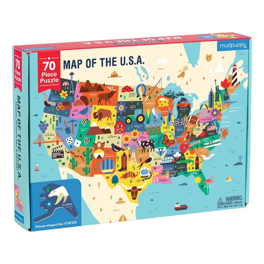 Mudpuppy Map Of The U.S.A.Jigsaw Puzzle