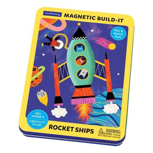 Mudpuppy Rocket Ships Magnetic Build-It .