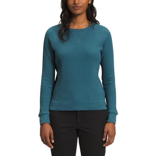 The North Face Women's Long Sleeve Chabot Crew Shirt Blue_q31