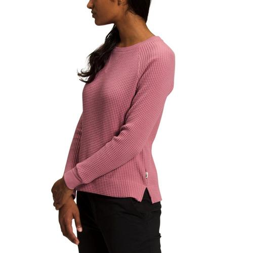 The North Face Women's Long Sleeve Chabot Crew Shirt Mesarose_rn2