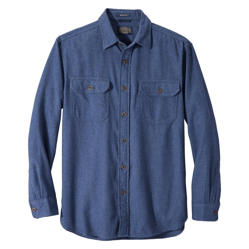 Pendleton Men's Burnside Double-Brushed Flannel Shirt BLUE_61540