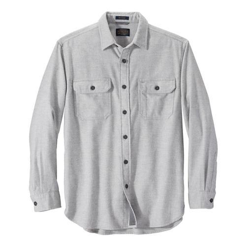 Pendleton Men's Burnside Double-Brushed Flannel Shirt Grey_61542