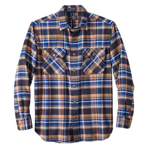 Pendleton Men's Burnside Plaid Double-Brushed Flannel Shirt Navy_61535