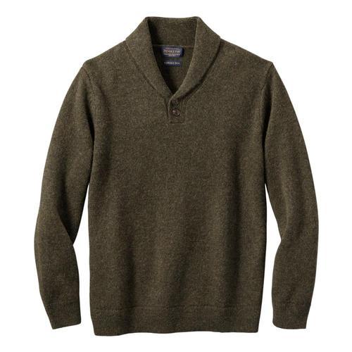 Pendleton Men's Shetland Shawl Pullover Sweater Army_61413