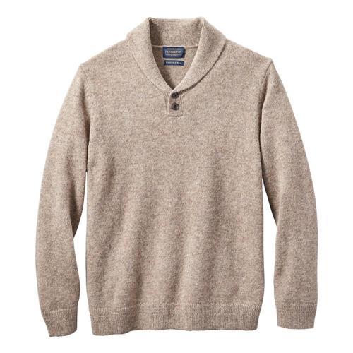 Pendleton Men's Shetland Shawl Pullover Sweater Coyote_61484