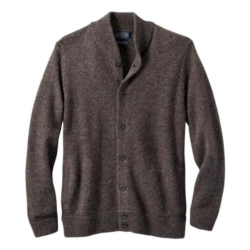 Pendleton Men's Shetland Washable Wool Cardigan Brwn_61411