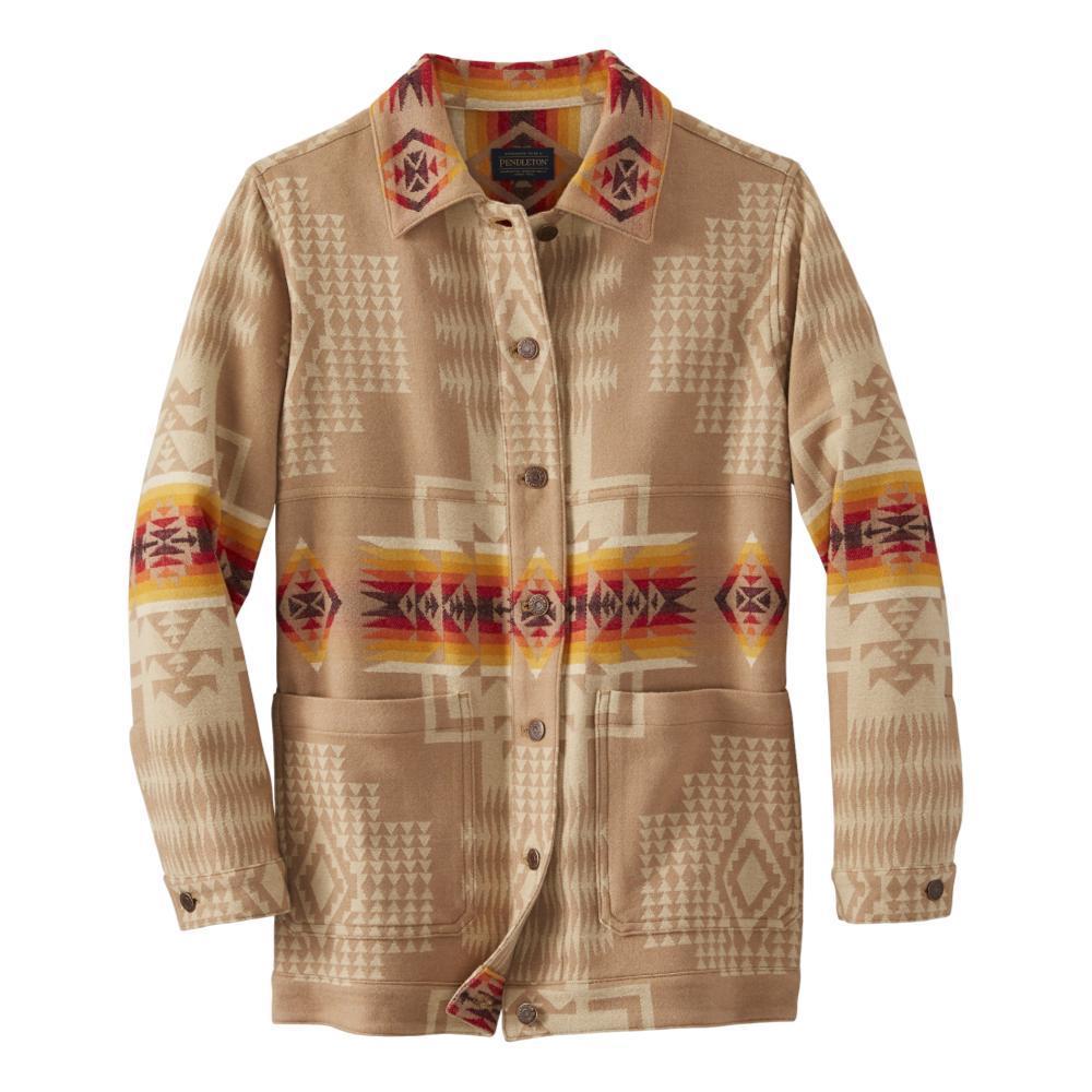 Pendleton Women's Jacquard Barn Jacket TAN_16017