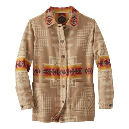 Pendleton Women's Jacquard Barn Jacket Tan_16017