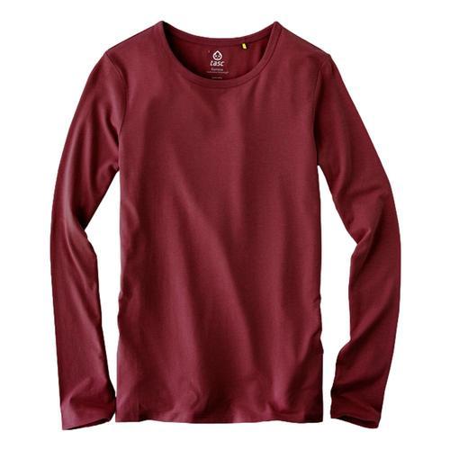 tasc Women's NOLA Bamboo Crew Neck Long Sleeve Shirt Garnet_606