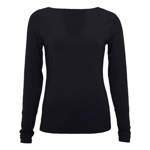 tasc Women's smartSilk Boat Neck Long Sleeve Shirt Black_1