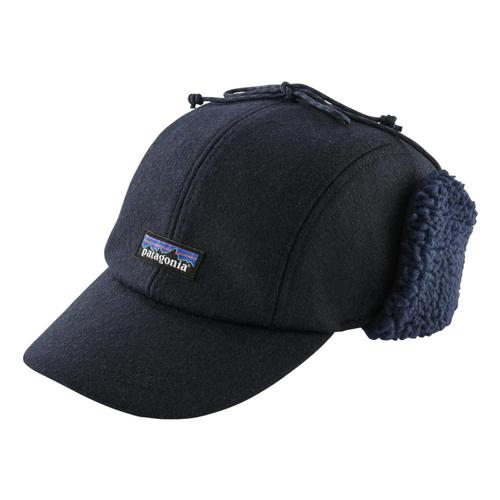 Patagonia Recycled Wool Ear Flap Cap Navy_cny