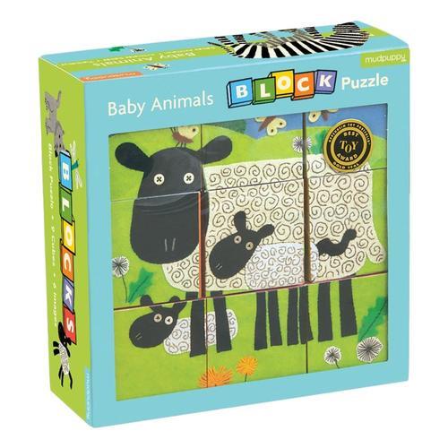 Mudpuppy Baby Animals Block Puzzle