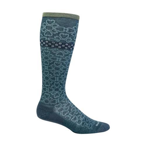 SockWell Women's Botanical Moderate Graduated Compression Socks Blueridge_625