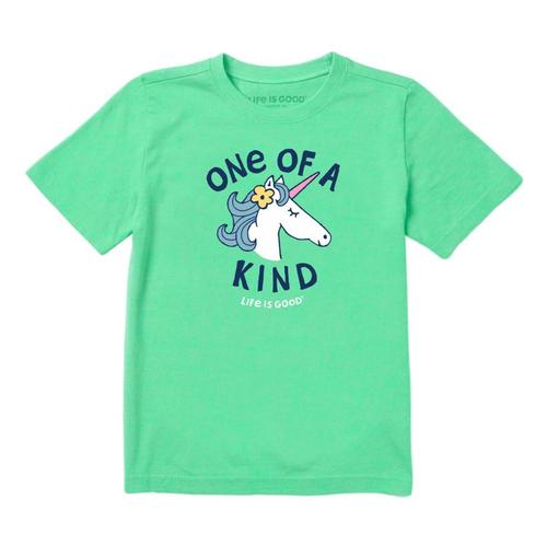 Life is Good Girls Kind Unicorn Crusher Tee Sprgreen