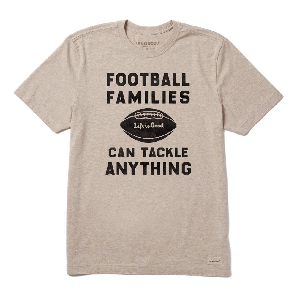Life is Good Men's Football Families Crusher Tee HEATHMOCHA