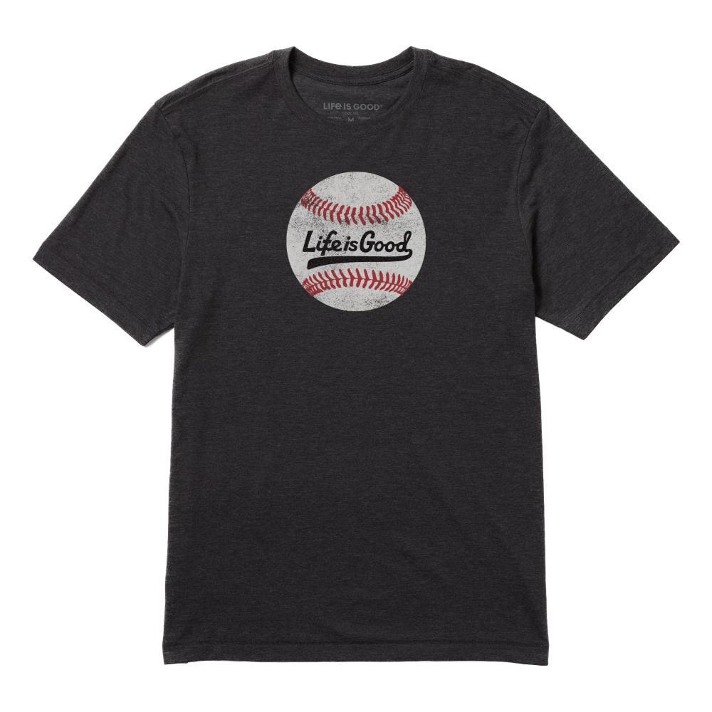 Life is Good Men's Ballyard Baseball Cool Tee JETBLACK