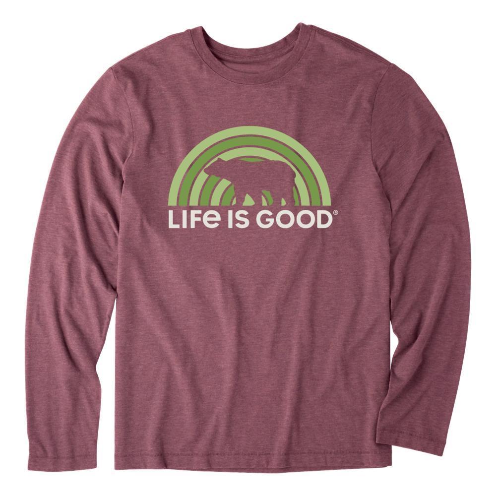 Life is Good Men's Retro Bear Long Sleeve Cool Tee BROWN