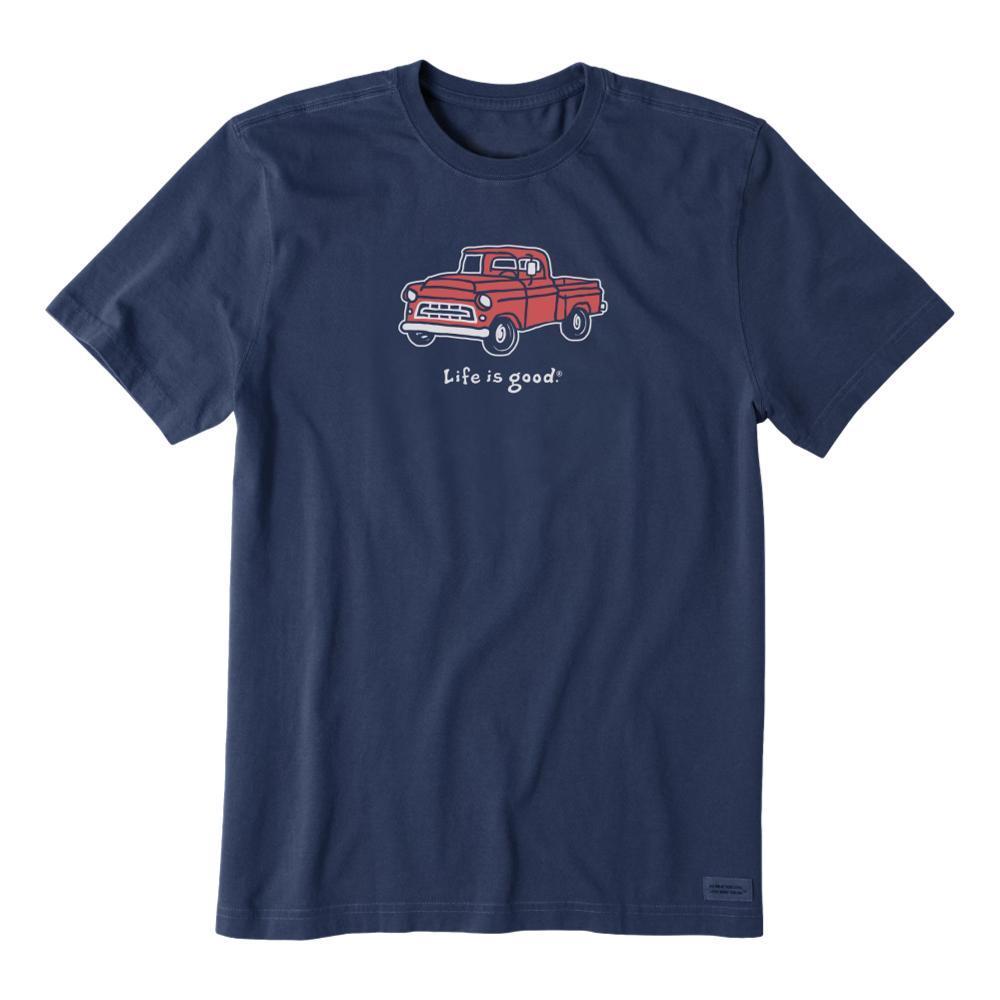 Life is Good Men's Vintage Pickup Truck Vintage Crusher Tee DARKESTBLU