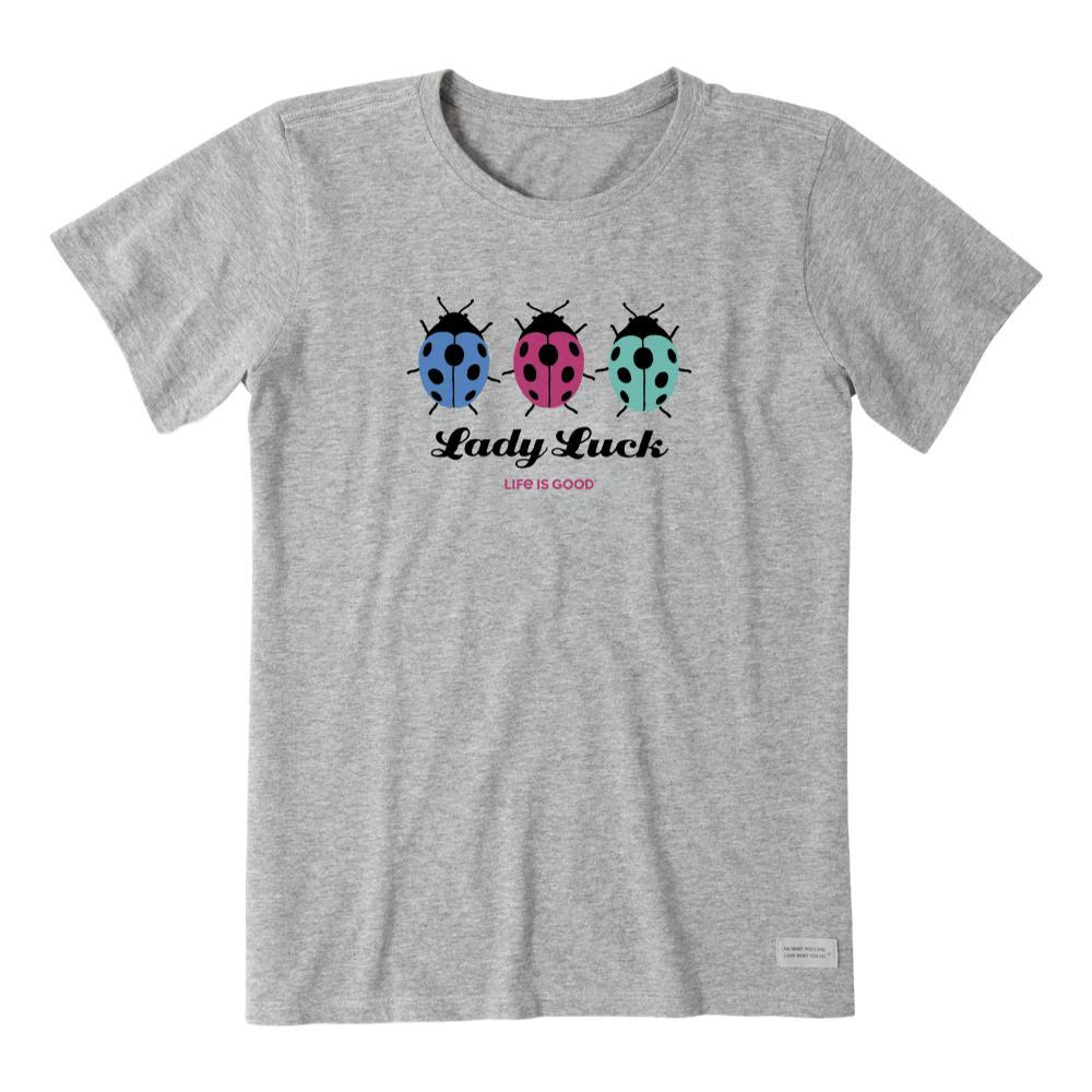 Life is Good Women's Lady Luck Crusher Tee HEATHGRAY