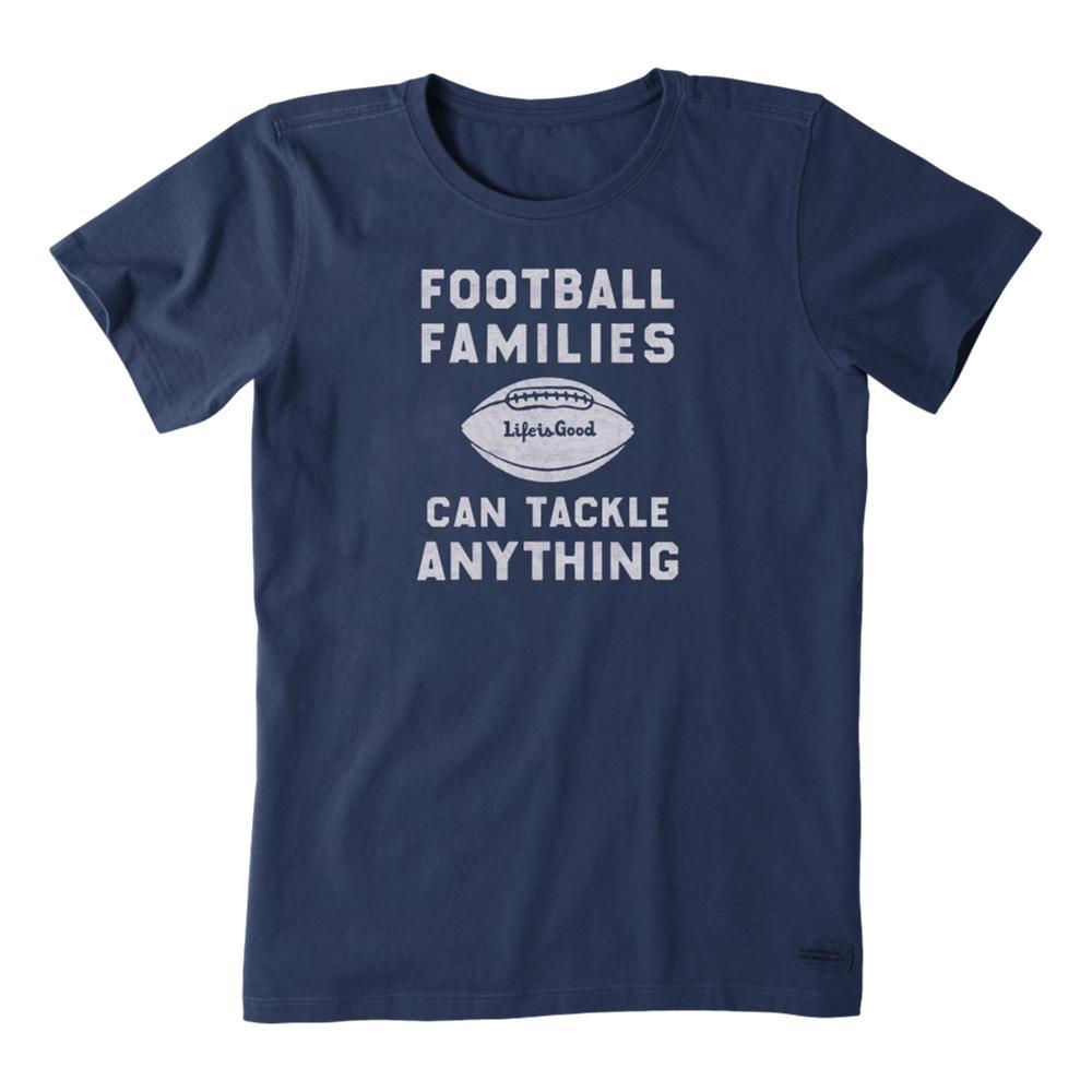 Life is Good Women's Football Families Crusher Tee DARKESTBLU