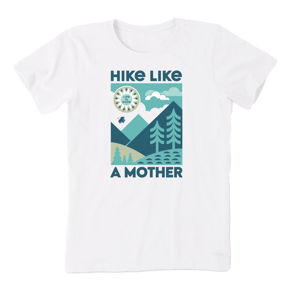 Life is Good Women's Hike Like a Mother Crusher Tee CLOUDWHITE