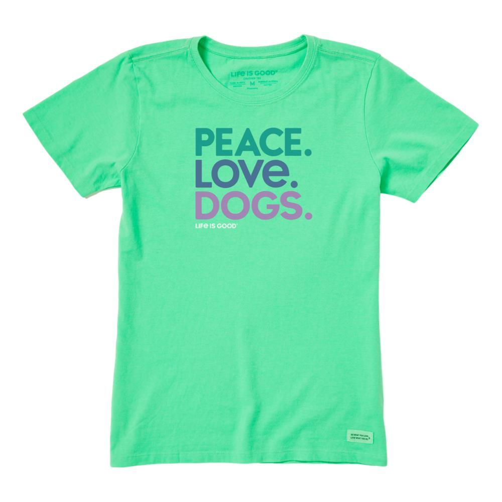 Life is Good Women's Peace Love Dogs Crusher Tee SPEARMINTG