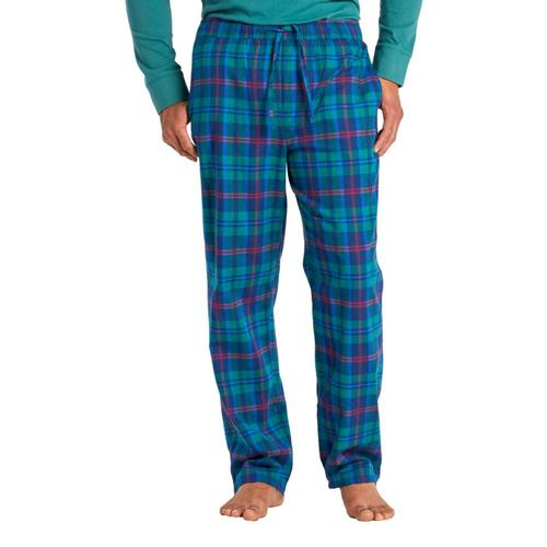 Life is Good Men's Holiday Plaid Classic Sleep Pants Drkblue