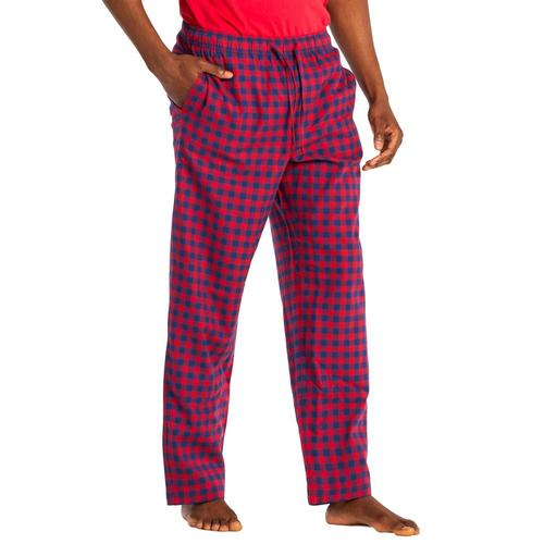 Life is Good Men's Houndstooth Classic Sleep Pants Red