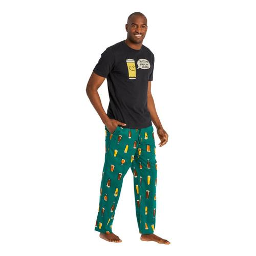 Life is Good Men's Beer Classic Sleep Pants Sprucegreen