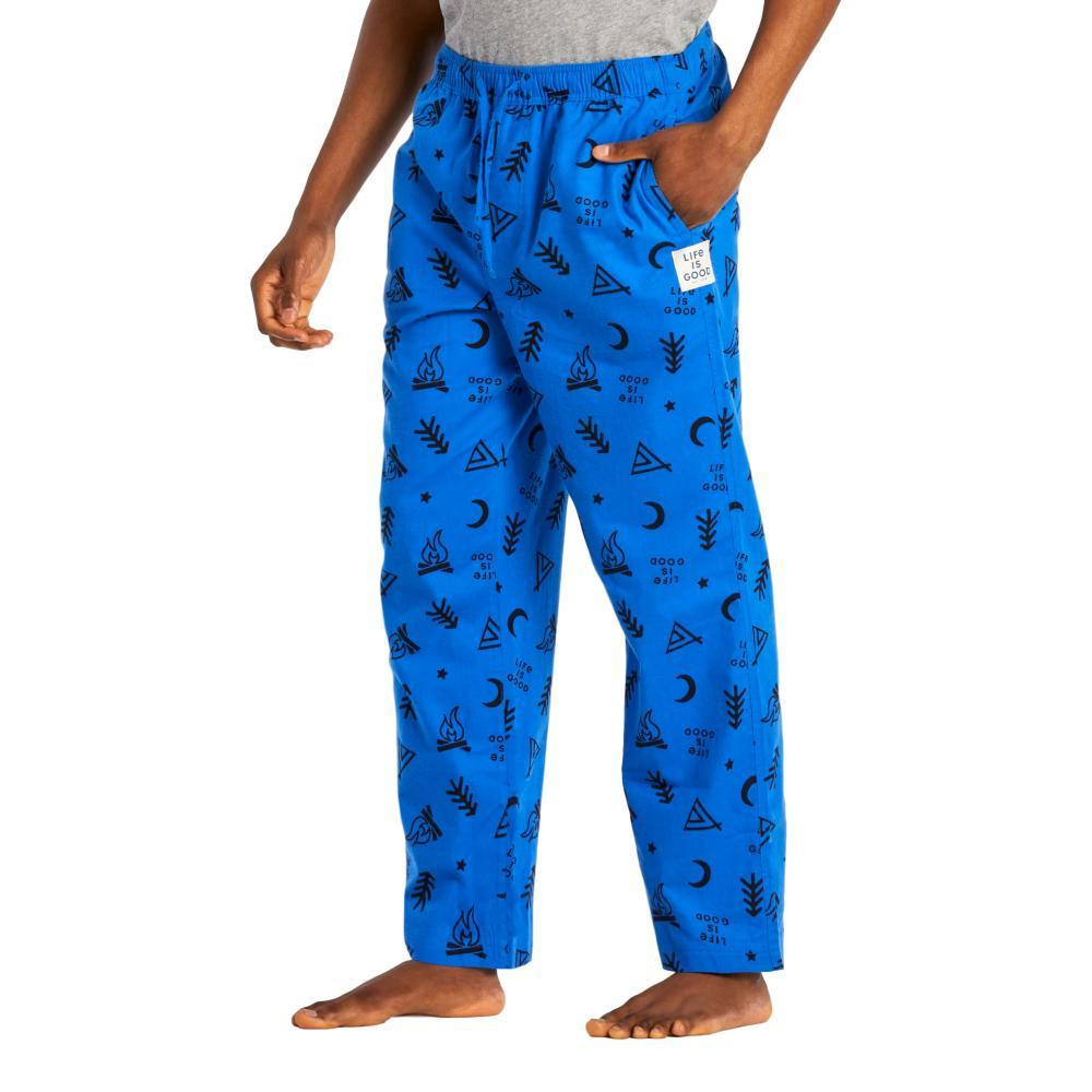 Life is Good Men's Minimal Outdoor Classic Sleep Pants ROYALBLUE