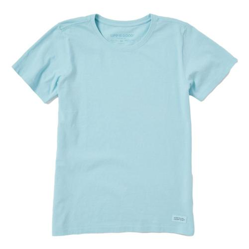 Life is Good Women's Solid Crusher Tee Beachblue