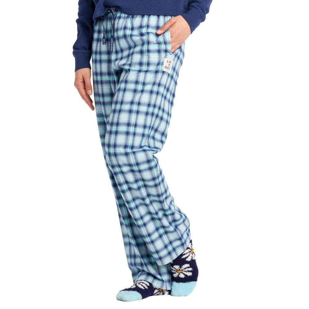 Life is Good Women's Plaid Classic Sleep Pants BEACHBLUE