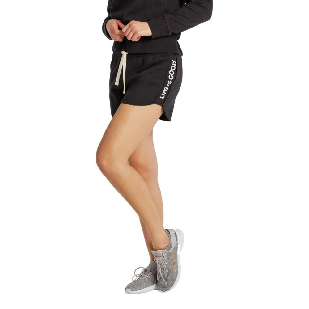 Life is Good Women's Simply True Fleece Shorts JETBLACK